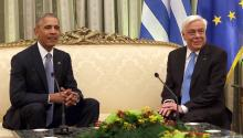 During his final international tour in office, President Obama visited Athens on Tuesday and warned against the rise of nationalistic tribalism, both inside the US and in Europe. EFE/ALEXANDROS BELTES