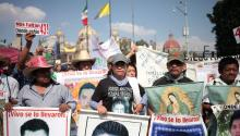 Violence and crime are a persistent problem in Mexico. On December 26, the fathers of a group of 43 students who disappeared froma rural school in Ayotzinapa pilgrimaged to the Guadalupe Basilica, in Mexico City.EFE/Sáshenka Gutiérrez