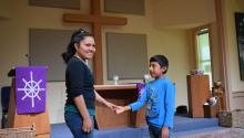 "An undocumented Guatemalan migrant mother and her son have been calling an Austin, Texas, church ""home"" for more than a year. Hilda Ramirez says they were fleeing the danger of their country and were caught by immigration authorities as they illegally crossed the border at Texas in 2014.EFE/Alex Segura"