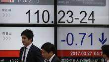 The Tokyo Stock Exchange, on Monday. EFE/Kimimasa Mayama
