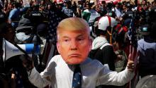 A poco menos de cuatro mesesen el poder, elpresidenteDonald Trump enfrenta una tormenta políticasin precendentes en los últimos años. Foto: EFE.