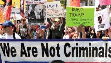 One of many demonstrations against President Trump during 2017. EFE