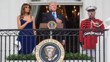 President Donald Trump and the First Lady Melania Trump. EFE.