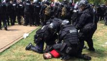 Demonstrations by white and neo-confederate supremacists in Charlottesville in August led to one of the worst violent clashes between right-wing extremists and civil rights organizations. EFE