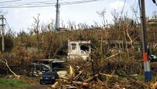 Paisaje de Puerto Rico horas después del paso del huracán María.EFE