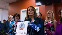 House Minority Leader Nancy Pelosi met here Wednesday with beneficiaries of the Deferred Action for Childhood Arrivals (DACA) program - known as Dreamers - to discuss efforts in Congress to pass a bill that would protect them now that President Donald Trump has announced the end of DACA. EFE