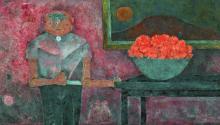 """""""Personaje en un interior"""" del mexicano Rufino Tamayo que se subastó por más de 1,9 millones de dólares en la subasta de arte latinoamericano por la casa Sotheby's en Nueva York (EE.UU.). EFE"""