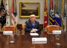 El presidente estadounidense -Donald J.Trump.
