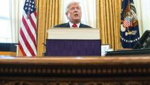 El presidente Donald Trump en declaraciones tras la firma de la ambiciosa reforma fiscal que incluye notables recortes de impuestos para empresas y trabajadores. EFE