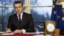 El presidente francés tiene un discursototalmente contrarioa los valores deDonald Trump. EFE/EPA/ETIENNE LAURENT /POOL MAXPPP OUT