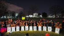 Defensores de los Dreamers protestando frente al Capitolio, en Washington, el pasado 21 de enero de 2018. Foto:EFE/EPA/JIM LO SCALZO