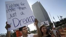 Protestas a favor de los DACA en Los Angeles, California, el pasado 3 de febrero. Foto: EFE/EPA/MIKE NELSON