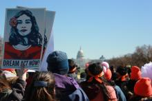 Thousands of protesters gathered in Washington, D.C. on March 5, calling on Congress to pass legislation to protect DACA recipients and DACA-eligible youth. EFE