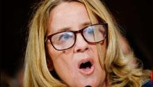 Christine Blasey Ford, one of the alleged victims of abuse by Supreme Court nominee Brett Kavanaugh, during her appearance before the Senate Judiciary Committee on Capitol Hill, Washington DC. EFE
