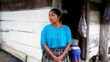 Claudia Maquín de 27 años madre de Jakelin una niña de 7 años que murió en la custodia de la Patrulla Fronteriza de EE.UU.. EFE