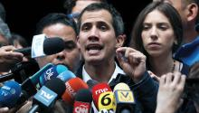 The president of the National Assembly (Parliament) of Venezuela and self-proclaimed interim president of the country, Juan Guaidó. Photo: EFE