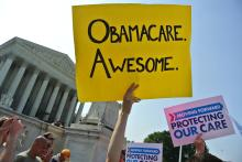 'Obamacare on the steps of the Supreme Court' (Will O'Neil vía Flickr).