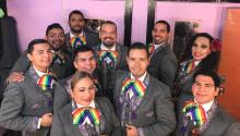 The motive for putting together an LGTBQ band was rooted in previous bad experiences whose resolution was to confront stereotypes. PHOTOGRAPHY: Facebook Mariachi Arcoiris de Los Angeles