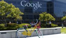 One of the free bikes at Google HQ in Palo Alto. Photo: Roman Boed. Flickr.