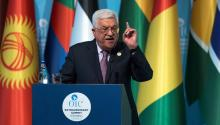 Palestinian President Mahmoud Abbas, offers a press conference after the extraordinary summit of the Organization of Islamic Cooperation (OIC) in Istanbul (Turkey) on December 13, 2017. The leaders of the OIC meet in Istanbul after the US President Donald J. Trump announced the recognition of Jerusalem as the capital of Israel, on December 6. EFE / Sedat Suna