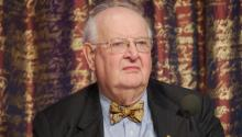 Nobel laureate Angus Deaton at a press conference at the Royal Swedish Academy of Sciences, on 7 December 2015. Photo: Holger Motzkau/Commons Wikimedia