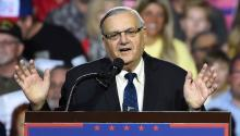 Former Arizona bailiff Joe Arpaio was known for his prosecution of undocumented immigrants and for questionable prison practices, including several violations of the fundamental rights of prisoners.