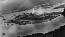 Japanese Prime Minister will visit Pearl Harbour today, but he is not expected to apologize, as Obama didn't apologize for the atomic bomb when he visited Hiroshima. Photo: Official U.S. Navy photograph.Wikimedia/Commons
