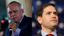 Second Chavista in command, Diosdado Cabello (L), and Republican Senator for Florida, Marco Rubio (R). Source: Diario de Avisos.