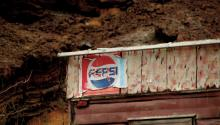 An old Pepsi ad in Calico Ghost Town, CA. (Wikipedia Commons)