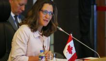 La Ministro de Exteriores de Canadá,Chrystia Freeland.EFE/EPA/BULLIT MARQUEZ