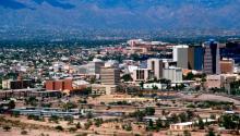 Tucson, Arizona, with theSanta Catalina Mountainsin the background. Photo: Wikimedia