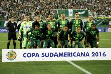 Group photo of Champecoense team during Copa Sudamericana Tournament. Photo:EFE