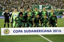 Group photo of Champecoense team during CopaSudamericana Tournament. Photo:EFE