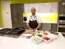 "Chef Ted Torres started the ""Latinos Living Healthy"" cooking series at Independence Live sponsored by Independence Blue Cross and AL DIA News.  Photo: Peter Fitzpatrick/AL DIA News"