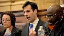 Joe Khan es precandiatoen la campaña demócrata para Fiscal Distrial de Filadelfia. Foto: Peter Fitzpatrick/AL DÍA News.