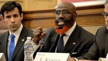 Tariq El-Shabazzha sido fiscal de Filadelfia. Hoy aspira a ocupar la silla de su exjefe, el emproblemado Seth Williams. Foto: Peter Fitzpatrick/AL DÍA News.