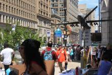 Protests took over the city during the Democratic National Convention (DNC). Photo courtesy: Creative Commons.