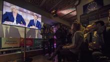 16.5 millones de personas presenciaron el peor debate en la historia de la Quinta República francesa.EFE/IAN LANGSDON