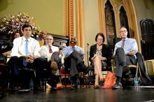 Candidatos por el puesto de Fiscal de Distrito de Filadelfia en la Iglesia Metodista Arch St.