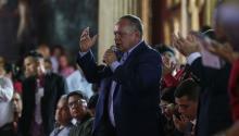 El segundo hombre fuerte del Chavismo, Diosdado Cabello, ha asegurado que la sublevación fue controlada por un despliegue de tropas y operaciones de defensa.EFE/Cristian Hernández