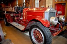 One of the vintage fire trucks used during its years of service in the city of Philadelphia.   Photo: Peter Fitzpatrick/AL DIA News