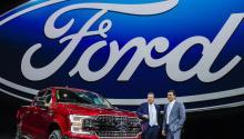 Ford anunció hoy, 22 de mayo de 2017, la salida del consejero delegado de la empresa, Mark Fields, y su sustitución porJamesHackett, hasta ahora encargado de la unidad de vehículos de conducción autónoma. EFE/Tannen Maury