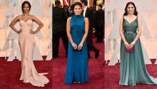Fotos: (i) Zoe Saldana (Jordan Strauss/Invision/AP), (c) Gina Rodriguez (Chris Pizzello/Invision/AP), (d) America Ferrera(Jordan Strauss/Invision/AP).