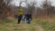 Matthew Goodwin con su esposa,Nahir Otaño-Gracia, e hija, Violet Goodwin-Otaño.