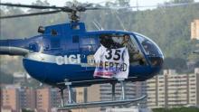 Un helicóptero de la Policía de Investigación (CICPC) sobrevoló el día de ayera la ciudad de Caracas, abriendo fuego contra el Ministerio de Interior y el Tribunal Supremo de Justicia. Fuente:http://www.lavanguardia.com/