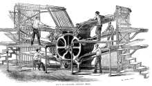 Una rotativa de 1864. Foto: Wikipedia