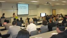 Over 100 professionals in the Philadelphia area attended 'Closing the Gap,' a business diversity conference, at The Community College of Philadelphia Center for Business and Industry. Aja Beech