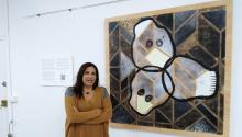 La pintora mexicana Gabriela Rosado se ha inspirado en la muerte para su última exposición en Barcelona. Foto: Andrea Rodés