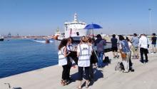 La llegadaa Valencia del barco Aquarius, en el que viajan 106 del total de 629 inmigrantesrescatados en el mar y que Españaha decididoacoger, ha generado ungran despliegue mediático y político en Europa, incapaz de poner solución a la crisis migratoria. Foto: A.Rodés.