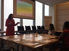 Suzanne Garber spoke at Monday's Young Professionals Networking Workshop.